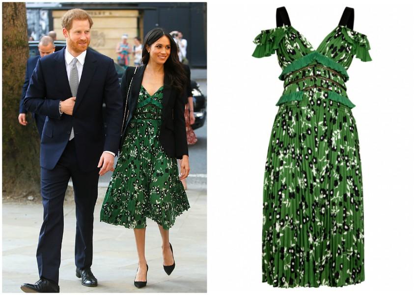Meghan Markle  l abito verde di Self Portrait scelto dalla Duchessa abbf3c6fbe2